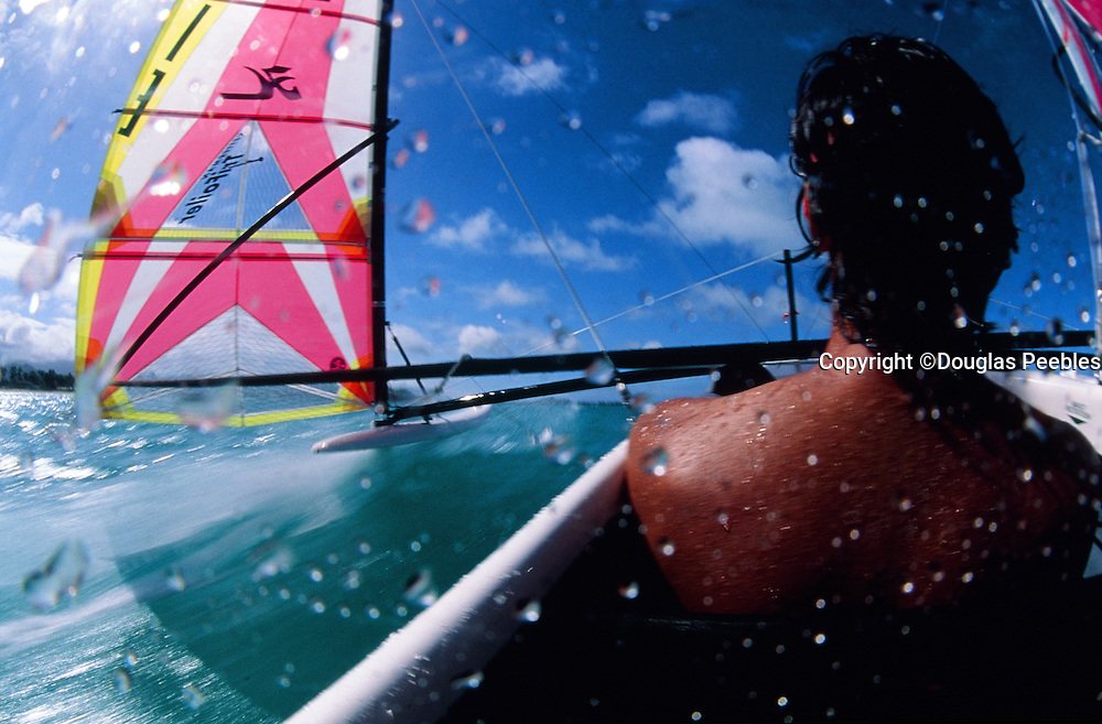 Hobie trimaran sailing, Kailua, Oahu, Hawaii
