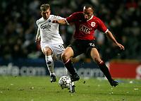 Fotball , 1. november 2006 , Champions League , København - Manchester United 0-1 <br /> Copenhagen - Manchester United<br /> Mikael Silvestre , Man U.og Marcus Allbäck , FCK