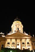 portrait view of illuminated building