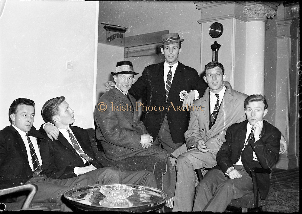 Scottish Rugby Scottish Rugby Team at Dun Laoghaire 4th april 1961