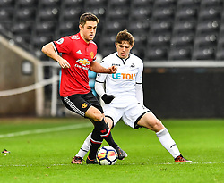 Joe Riley of Manchester United in action - Mandatory by-line: Craig Thomas/Replay images - 18/03/2018 - FOOTBALL - Liberty Stadium - Swansea, England - Swansea City U23 v Manchester United U23 - Premier League 2 - Divison 1