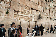 The Western Wall, located in the Jewish quarter of the Old City of Jerusalem. It is the largest in tact, retaining wall of the Temple Mount. It is a religious and national symbol in Israel and is a place to place a wish or prayer in the cracks of the wall.