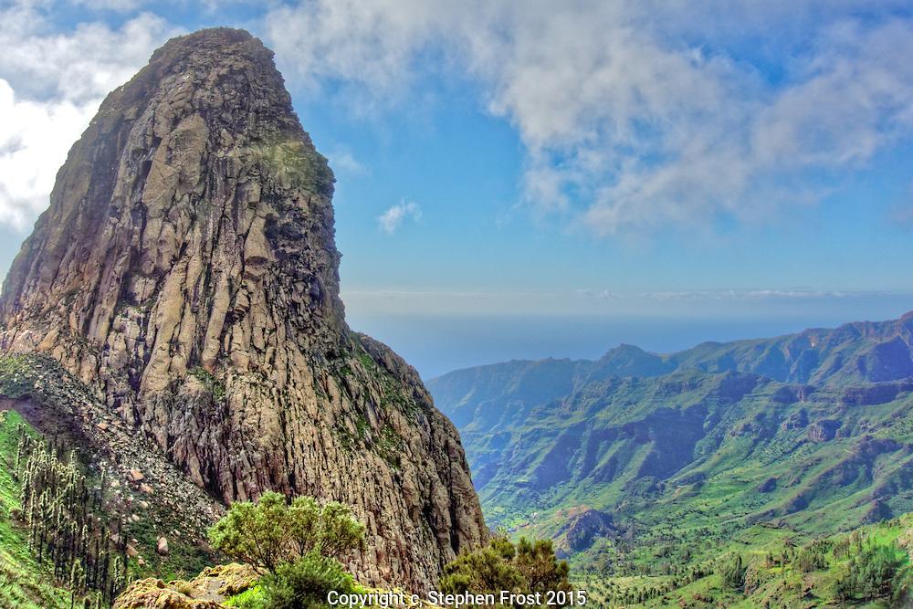 Rocky Ravine in La Gomera in the Canary Islands.