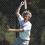Hans Adama Van Scheltema, Netherlands, winning the 60 Mens Singles Final during the 2009 ITF Super-Seniors World Team and Individual Championships at Perth, Western Australia, between 2-15th November, 2009.