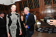 JADE PARFITT; PHILIP TREACY, London College of Fashion hosts party to celebrate the opening of Carmen: A Life in Fashion with guest of honour Carmen Dell'Orefice. Il Bottachio, Hyde Park Corner. London. 16 November 2011. <br /> <br />  , -DO NOT ARCHIVE-&copy; Copyright Photograph by Dafydd Jones. 248 Clapham Rd. London SW9 0PZ. Tel 0207 820 0771. www.dafjones.com.
