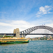 Sydney Harbor Bridge and Manly Ferry