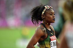 Elaine Thompson of Jamaica looks on - Mandatory byline: Patrick Khachfe/JMP - 07966 386802 - 06/08/2017 - ATHLETICS - London Stadium - London, England - Women's 100m Semi Final - IAAF World Championships