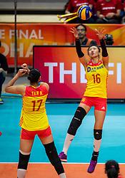 19-10-2018 JPN: Semi Final World Championship Volleyball Women day 18, Yokohama<br /> China - Italy / Xia Ding #16 of China