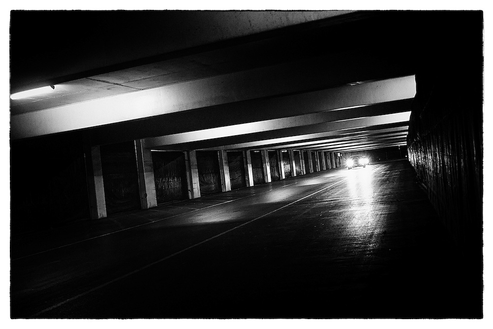 Parking garage noir.