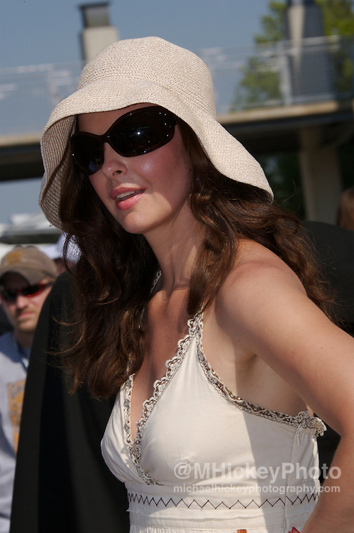 Ashley Judd seen in the pits during qualifications for the Indy 500 on May 12, 2007. Photo by Michael Hickey