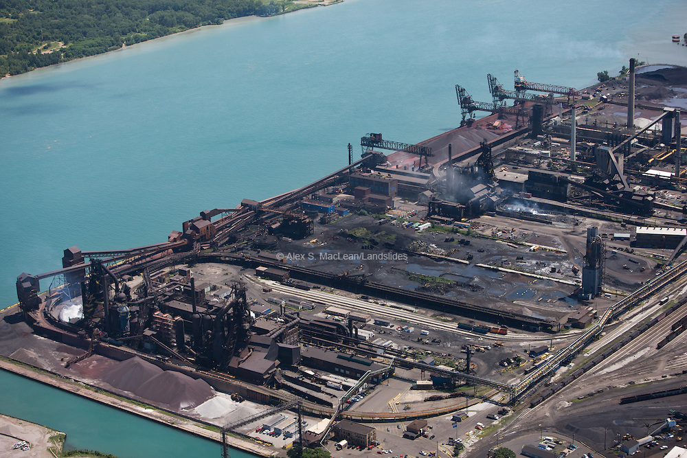 Zug Island - United States Steel Works - on the Detroit River