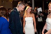 ROBERT KUPISZ; JOANNA PRZETAKIEWICZ;   La Mania launch party. The Royal Academy. Burlington St. London. 16 February 2012.