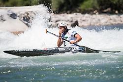 Benjamin SAVSEK of Slovenia during the Canoe Single (C1) Men iFinal race of 2019 ICF Canoe Slalom World Cup 4, on June 28, 2019 in Tacen, Ljubljana, Slovenia. Photo by Sasa Pahic Szabo / Sportida