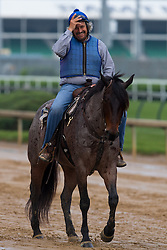 Derby 142 hopeful Gun Runner and Creator trainer Steve Asmussen was on the track for training, Sunday, May 01, 2016 at Churchill Downs in Louisville.