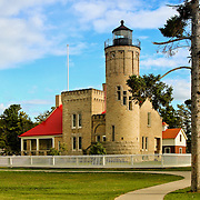 &quot;Old Mackinac Point Lighthouse&quot;<br /> <br /> The Old Mackinac Point Lighthouse in Mackinaw City Michigan.<br /> <br /> Lighthouses of the Great lakes by Rachel Cohen