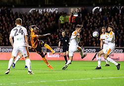 Benik Afobe of Wolverhampton Wanderers shoots at goal - Mandatory by-line: Robbie Stephenson/JMP - 03/04/2018 - FOOTBALL - Molineux - Wolverhampton, England - Wolverhampton Wanderers v Hull City - Sky Bet Championship
