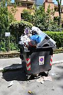 20170423 - emergenza rifiuti Roma cassonetto con lavatrice ecc