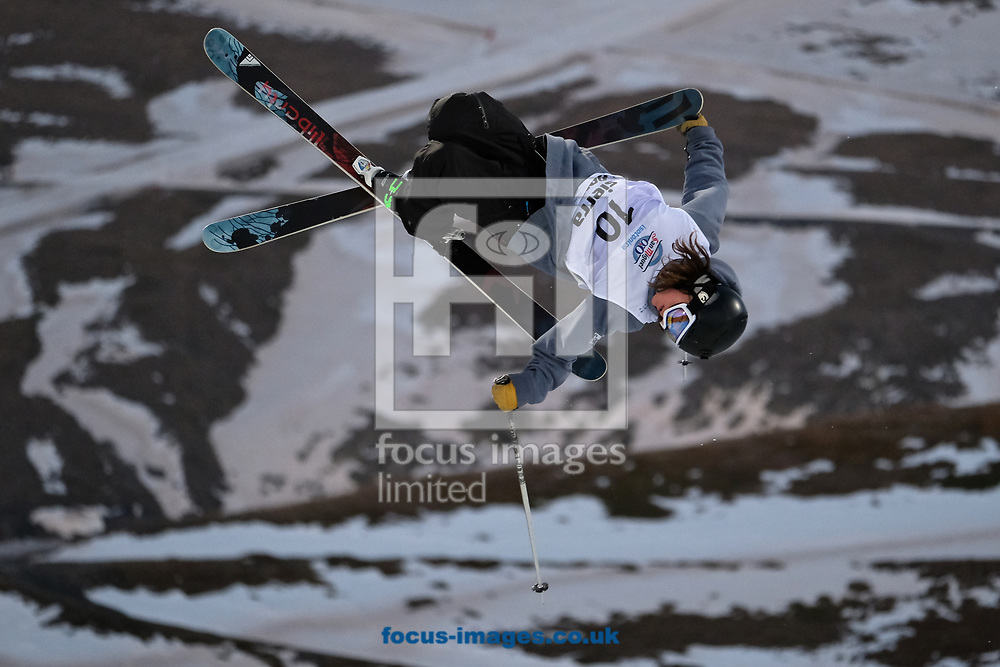 Brendan Mackay (CAN) during the Men's Half Pipe Final on Day Eleven of the FIS Freestyle Ski &amp; Snowboard World Championships 2017 at Sierra Nevada Ski Station, Granada<br /> Picture by Kristian Kane/Focus Images Ltd +44 7814 482222<br /> 18/03/2017