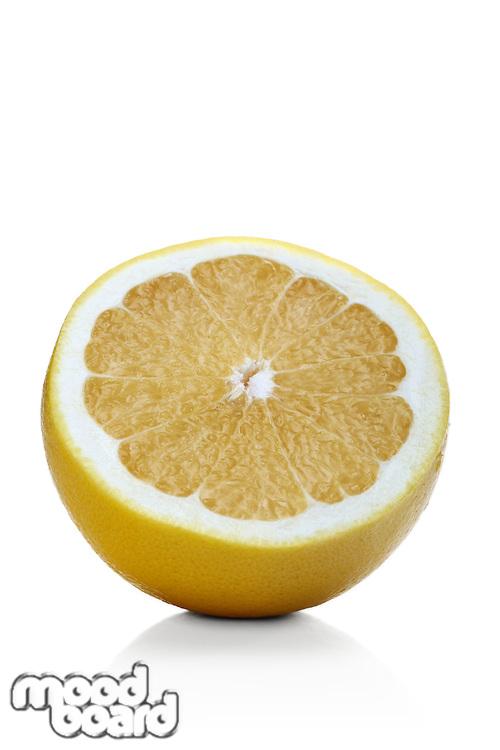 Grapefruit on white background - close-up