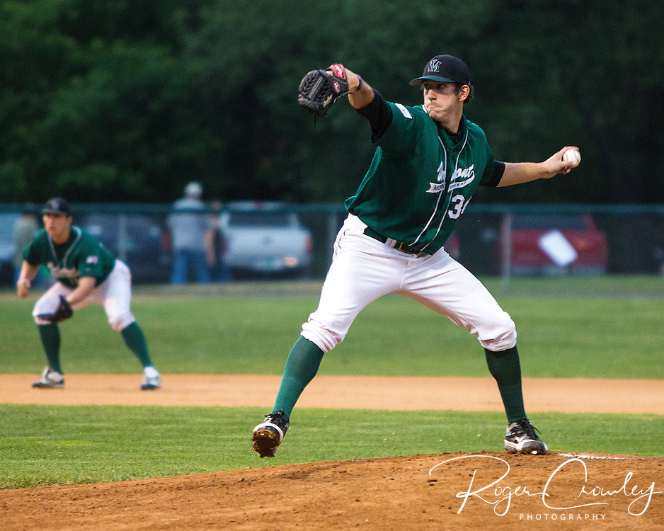 Alex Haines (Greensboro, Pa./Seton Hill) pitched six scoreless innings and struck out a season high 10 batters as Vermont defeated North Adams 2-0in a weather shortened six in contest in New England Collegiate Baseball League (NECBL) action on Tuesday.
