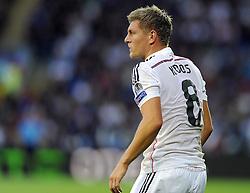 Real Madrid's Toni Kroos  - Photo mandatory by-line: Joe Meredith/JMP - Mobile: 07966 386802 12/08/2014 - SPORT - FOOTBALL - Cardiff - Cardiff City Stadium - Real Madrid v Sevilla - UEFA Super Cup