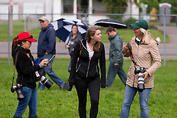 Kentucky Derby 142 winner Nyquist had a handful of journalists and fans at his barn on the backside the morning after the race, Sunday, May 08, 2016 at Churchill Downs in Louisville.