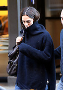 Nov. 15, 2015 - New York City, NY, USA - <br /> <br /> Actress Keira Knightley wears and oversized sweater as she leaves her Tribeca apartment<br /> ©Exclusivepix Media