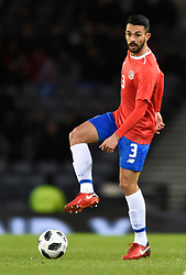 Costa Rica's Giancarlo Gonzalez during the international friendly match at Hampden Park, Glasgow. RESTRICTIONS: Use subject to restrictions. Editorial use only. Commercial use only with prior written consent of the Scottish FA.