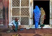 Pilgrims to tomb at Fatehpur Sikri, Uttar Pradesh