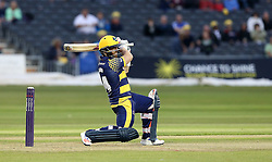 David Lloyd of Glamorgan plays a shot down the ground - Mandatory by-line: Robbie Stephenson/JMP - 10/06/2016 - CRICKET - Brightside Ground - Bristol, United Kingdom - Gloucestershire v Glamorgan - NatWest T20 Blast