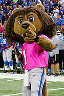 Detroit Lions mascot Roary prior to an NFL football game against the Arizona Cardinals at Ford Field in Detroit, Sunday, Oct. 11, 2015. (AP Photo/Rick Osentoski)