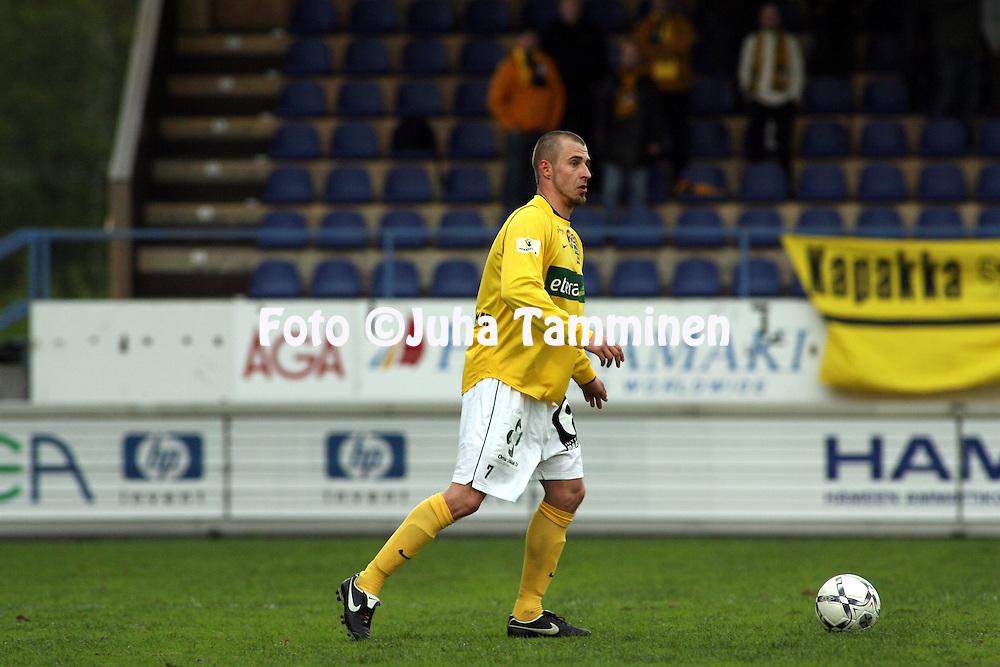 05.05.2008, Tehtaankentt?, Valkeakoski, Finland..Veikkausliiga 2008 - Finnish League 2008.FC Haka - Kuopion Palloseura.Miikka Turunen - KuPS.©Juha Tamminen.....ARK:k