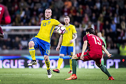 March 28, 2017 - Funchal, Madeira, Portugal - 13. Jakob Johansson,15. André Gomes,.. Sweden defeated Portugal 3-2 in a friendly game at Estadio do Maritimo, Madeira, Portugal 2017-03-28..(c) ERICSSON MARCUS  / Aftonbladet / IBL BildbyrÃ¥....* * * EXPRESSEN OUT * * *....AFTONBLADET / 85729 (Credit Image: © Aftonbladet/IBL via ZUMA Wire)