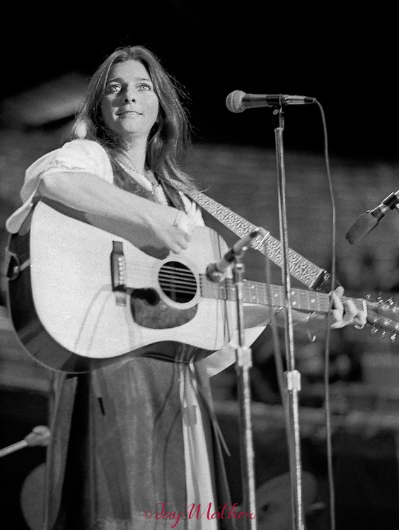 Judy Collins in concert at the Denver Auditorium, 1971. She was performing at a fundraiser for Richard Lamm who was a member of the Colorado House of Representatives and was leading the campaign to keep the 1976 Winter Olympics from happening.