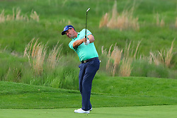 May 16, 2019 - Farmingdale, NY, U.S. - FARMINGDALE, NY - MAY 16:  Pádraig Harrington of Ireland hits from the fairway on the 18th hole during the first round of the 2019 PGA Championship at the Bethpage Black course on May 16, 2019 in Farmingdale, New York. (Photo by Rich Graessle/Icon Sportswire) (Credit Image: © Rich Graessle/Icon SMI via ZUMA Press)