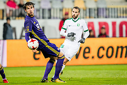Luka Uskokovic of NK Maribor and Dario Canadjija of NK Olimpija Ljubljana during football match between NK Maribor and NK Olimpija Ljubljana in 2nd leg match in Quaterfinal of Slovenian cup 2017/2018, on November 29, 2017 in Ljudski vrt, Maribor, Slovenia. Photo by Ziga Zupan / Sportida