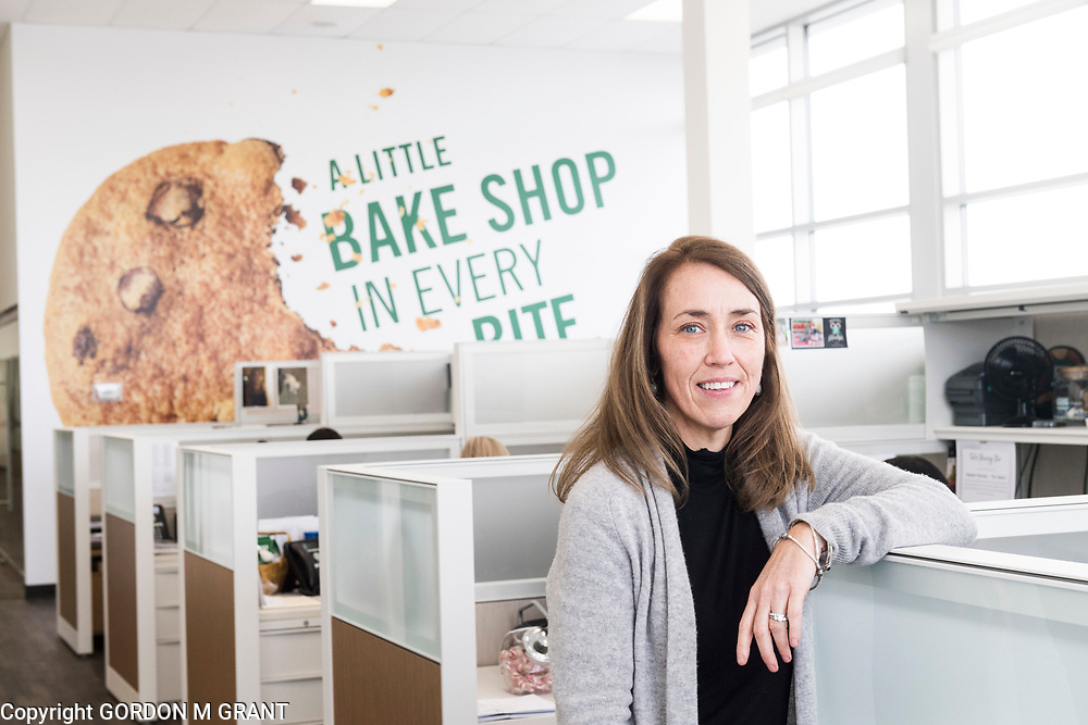 Tate's Bake Shop CEO, Maura Mottolese, outside her office at the companies distribution center at the Hampton Business District at Gabreski Airport in Westhampton, Jan. 16, 2018. Tate's Bake Shop is expanding it's distribution facility into a newly constructed building at the site.