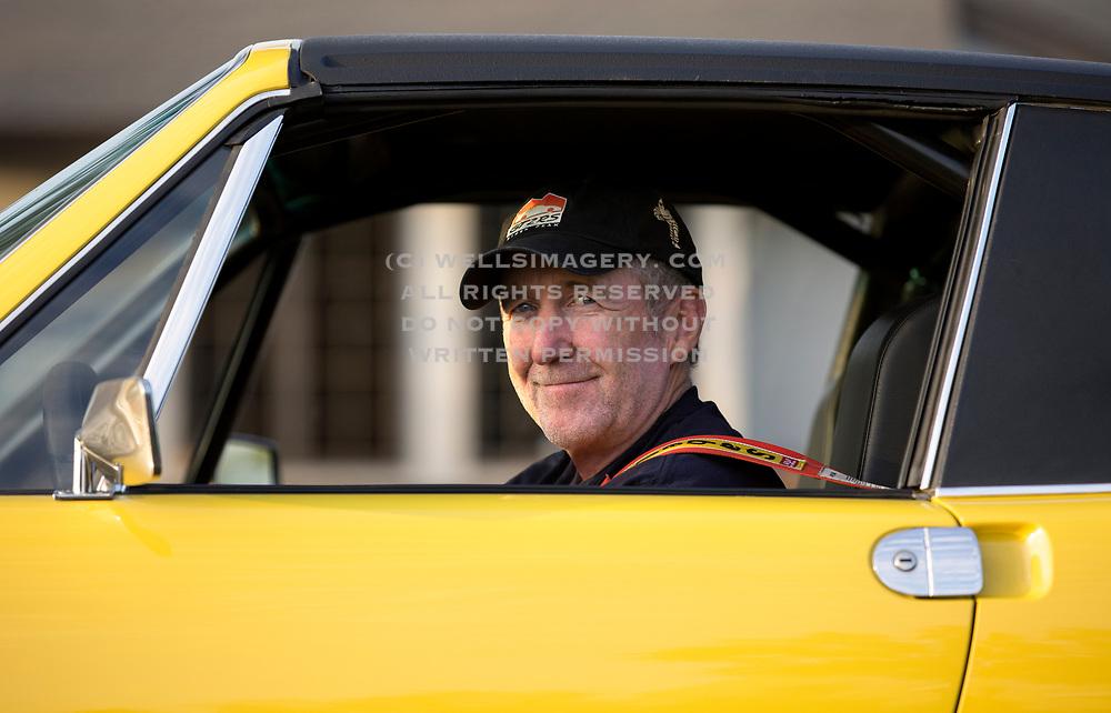 Image of Jeff Zwart, Porsche enthusiast, race car driver and film director, driving his Porsche 914-6 in Orange County, California, America west coast
