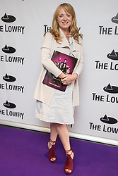 © Licensed to London News Pictures . 30/08/2017 . Salford , UK . Sally Ann Matthews . Purple carpet photos of celebrities, actors and invited guests arriving for the press night of the musical comedy , Addams Family , at the Lowry Theatre . Photo credit : Joel Goodman/LNP