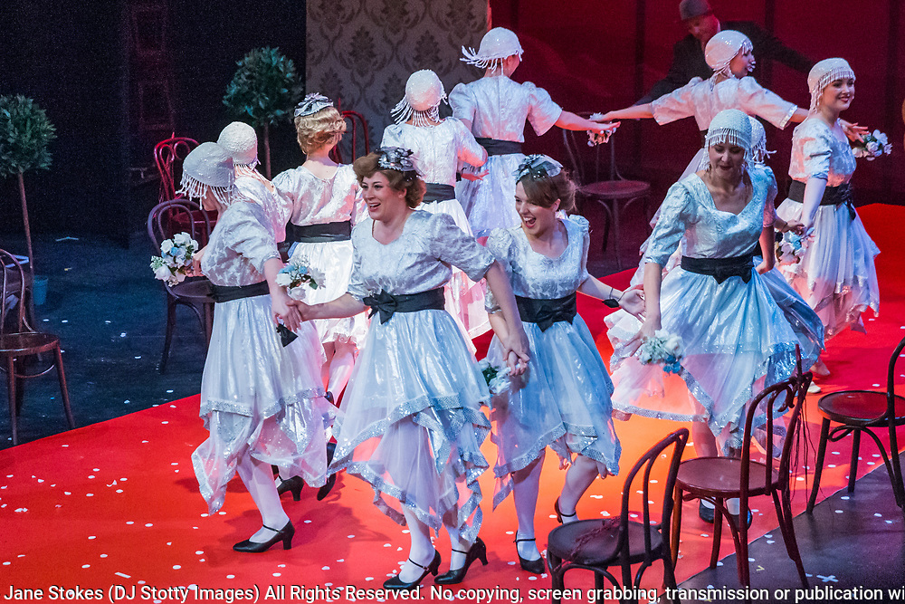 Matinee performance of Ruddigore performed by during the National Gilbert & Sullivan Opera Company in Buxton Opera House Buxton, England on Wednesday 01 August 2018 Photo: Jane Stokes<br /> <br /> DIRECTOR/Vivian Coates<br /> CONDUCTOR/James Hendry<br /> CHOREOGRAPHER/Mary McDonagh<br /> <br /> CAST<br /> SIR RUTHVEN MURGATROYD (Robin Oakapple)/Bradley Travis<br /> RICHARD DAUNTLESS/David Menezes<br /> SIR DESPARD MURGATROYD/Matthew Siveter<br /> OLD ADAM GOODHEART/Stephen Godward<br /> ROSE MAYBUD/Rosanna Harris<br /> MAD MARGARET/Mae Hendorn<br /> DAME HANNAH/Gaynor Keeble<br /> ZORAH/Juliet Montgomery<br /> RUTH/Alexandra Hazard<br /> SIR RODERIC MURGATROYD/Steven Page<br /> <br /> THE CHORUS<br /> Hannah Boxall, Nicole Boardman, Rhiannon Doogan, Joanna Goldspink, Maisy Hepburn, Jennifer Parker, Julie Power, Stephanie Poropat, Eloise Waterhouse, Emma Watkinson<br /> <br /> Tom Blackwell, Andrew Brown, Peter Brooks, Stephen Fawell, Matthew Kellett, Michael Vincent Jones, Henry Smith, Jonathan Stevens, Tim Southgate<br /> <br /> PRODUCTION TEAM<br /> <br /> TOUR MANAGER/Neil Smith<br /> STAGE MANAGER/Sarah Kent<br /> ASSISTANT STAGE MANAGER/Claire Litton<br /> LIGHTING DESIGN/David Marsden<br /> WARDROBE SUPERVISOR/ David Morgan<br /> SET DESIGN/ Tin Shed Scenery<br /> REPETITEUR/Erica Gundesen