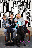 Amanda, Matthew, Holland, Laina, Cosmos (dog) Roberts/Neal family and Edie and Michael McKardle/Busam family photo shoot downtown Denver, CO on Oct. 14, 2017.<br /> Photography by: Marie Griffin Dennis/Marie Griffin Photography<br /> mariegriffinphotography.com<br /> mariefgriffin{@}gmail.com