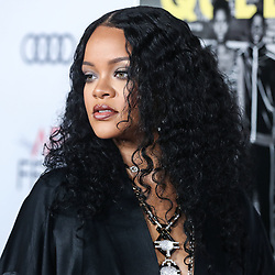 HOLLYWOOD, LOS ANGELES, CALIFORNIA, USA - NOVEMBER 14: Singer Rihanna arrives at the AFI FEST 2019 - Opening Night Gala - Premiere Of Universal Pictures' 'Queen And Slim' held at the TCL Chinese Theatre IMAX on November 14, 2019 in Hollywood, Los Angeles, California, United States.<br />