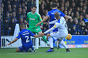 GOAL Calvin Andrew scores for Rochdale 0-1 during the EFL Sky Bet League 1 match between AFC Wimbledon and Rochdale at the Cherry Red Records Stadium, Kingston, England on 8 December 2018.
