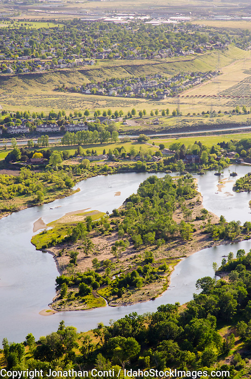 Aerial view of the Boise river
