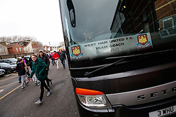 Fans arrive past the West Ham team coach before the match - Photo mandatory by-line: Rogan Thomson/JMP - 07966 386802 - 25/01/2015 - SPORT - FOOTBALL - Bristol, England - Ashton Gate Stadium - Bristol City v West Ham United - FA Cup Fourth Round Proper.
