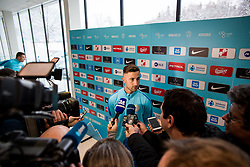 Andraz Sporar during Training of Slovenian National Football team before friendly matches with Austria and Belarus, on March 19, 2018 in Football National Centre, Brdo pri Kranju, Kranj, Slovenia. Photo by Ziga Zupan / Sportida