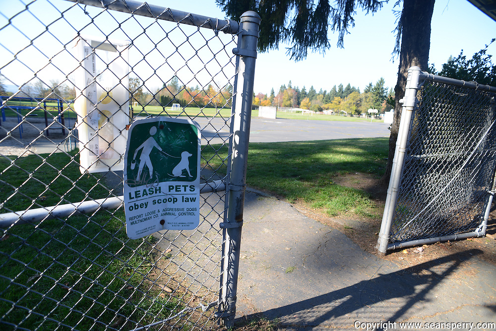 The Smith Elementary School and the other recently vacated Portland School's have become popular spots for dog walking.