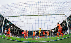 Goalkeeper Nick Olij of Netherlands and other players during the UEFA European Under-17 Championship Final match between Germany and Netherlands on May 16, 2012 in SRC Stozice, Ljubljana, Slovenia. Netherlands defeated Germany after penalty shots and became European Under-17 Champion 2012. (Photo by Vid Ponikvar / Sportida.com)