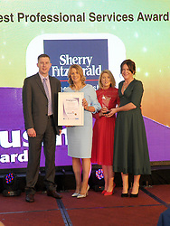 Sherry Fitzgerald Feeney West winner of Best professional services Award at the Mayo Business Awards held in the Broadhaven Hotel Belmullet.<br /> Pic Conor McKeown