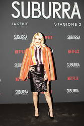 Carlotta Antonelli at the Red Carpet of the series Suburra 2 at Circolo Degli Illuminati in Rome, Italy, 20 February 2019 .Dress: MSGM  (Credit Image: © Lucia Casone/Soevermedia via ZUMA Press)